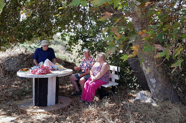 Al fresco lunch with my parents at Faneromeni 13th September 2016