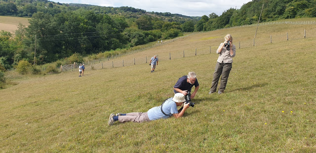 You had to get low down and avoid the Dwarf Thistles to take a shot! Sam with Steve and Hazel Cullum