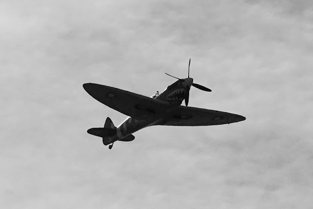 A Spitfire over Oare Marshes on our last day out