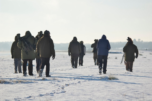 And very soon it looked like this as we stomped off at Walberswick for Snow Buntings and Shorelarks