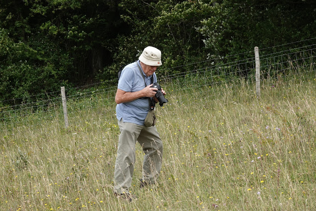 Sam stalking butterflies at Fackenden Down - 23rd July 2020